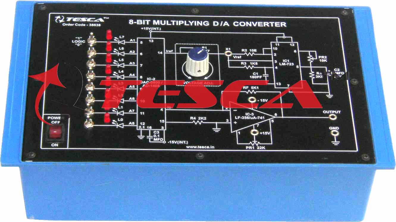 8-bit multiplying Digital to Analog (D to A) Converter