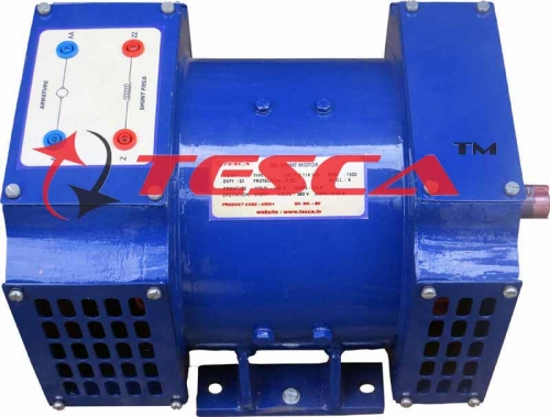 1000 W / 220 V / 1500 RPM / Self or Separately excited / DC Shunt Generator with Interpoles for better commutation.  Frame : 112