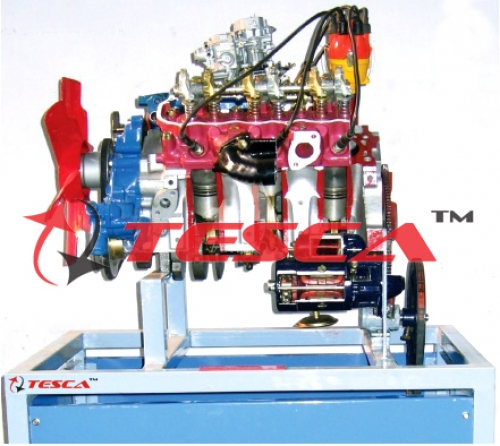 4 Stroke 6 Cylinder Petrol Engine (V-6) - Motor Driven Actual Cut Section Working Model