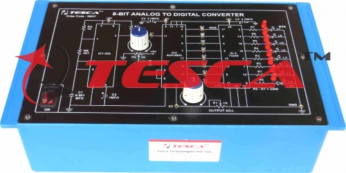 8-bit Analog to Digital Converter (A to D) (based on ADC 0800) Trainer