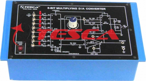8-bit multiplying Digital to Analog (D to A) Converter (based on AD1408) Trainer