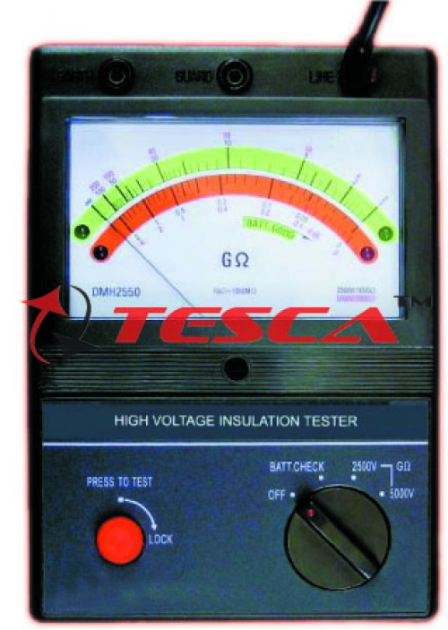 Analog Battery Operated Insulation Tester 5KV Wih Mains Operated