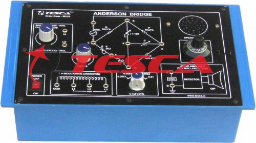 Anderson Bridge with power supply and 1KHz Osc. (C.R.)