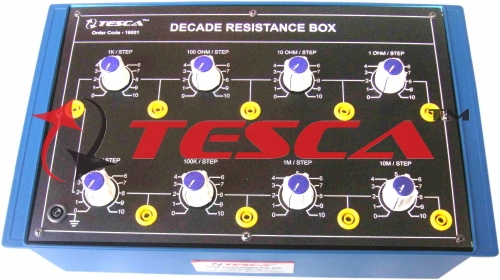 Decade Resistance Box Eight Dials 1 Ohm to 100 M Ohms