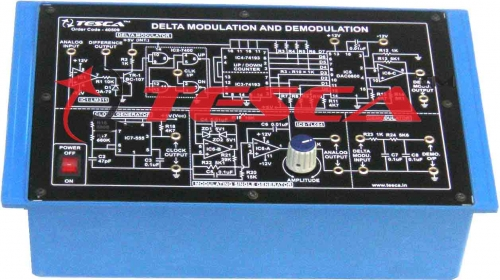 Delta Modulation & Demodulation Trainer