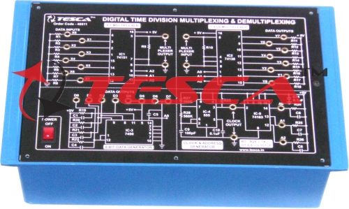 Digital Time Division Multiplexing & Demultiplexing (TDM) Trainer