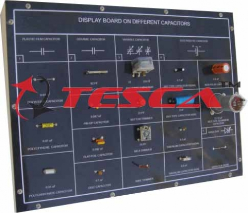 Display Board - Different Capacitors & Colour Coding