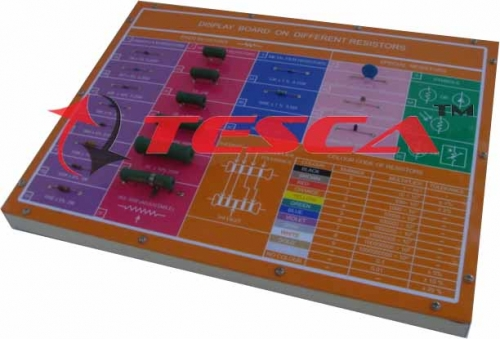 Display Board - Different Resistors & Colour Coding