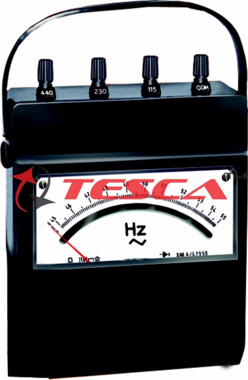 Frequency Meter - Analog Portable - Choose 40-50-60 Hz or 45-50-55Hz, 45-55-65Hz, 80-100-120Hz