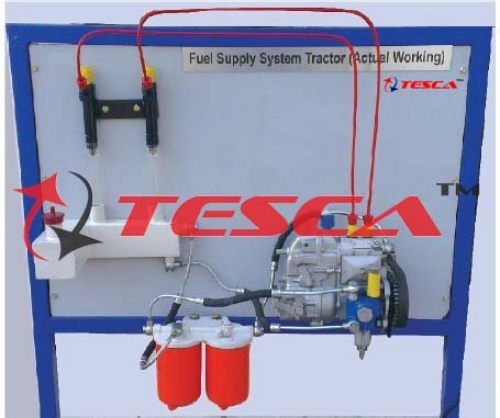 Fuel Supply System Of A 4 Cylinder Diesel Engine Actual Cut Section Model -- Motorised - With In Line Pump