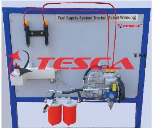 Fuel Supply System Of A 4 Cylinder Diesel Engine Actual Cut Section Model -- Motorised - With Rotary Pump