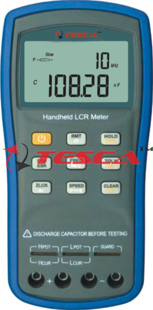 LCR Meter, Measures : L, C, R, Z, D, Q, Phase and ESR, Signal Frequency