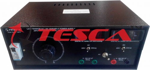 Low Tension AC/DC Power Supply with Voltmeter, Current Meter and MCB (0-30V @ 6A; AC or DC)