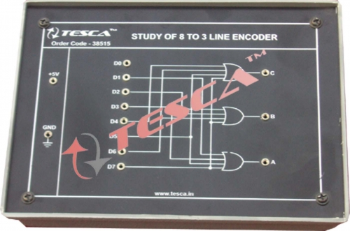 Module - Study of 8 to 3 Line Encoder