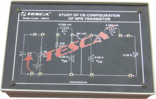 Module - Study of CB configuration of NPN transistor