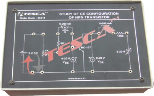 Module - Study of CE configuration of NPN transistor