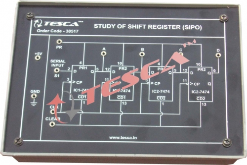 Module - Study of Shift Register (SIPO)