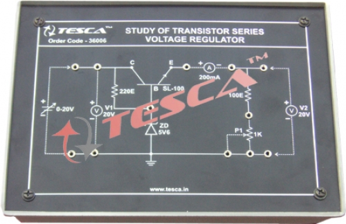 Module - Study of transistor series voltage regulator