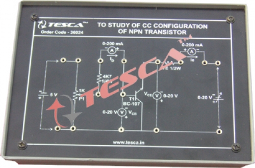 Module - To Study CC characteristics of NPN transistor
