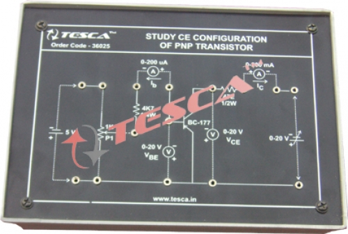 Module - To study CE characteristics of PNP transistor
