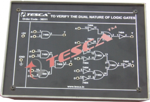 Module - To verify the dual nature of  Logic Gates