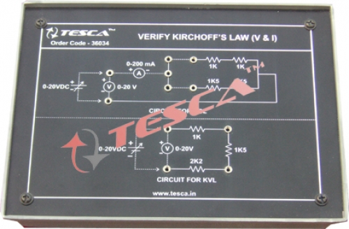 Module - Verify kirchoff's law (V& I)
