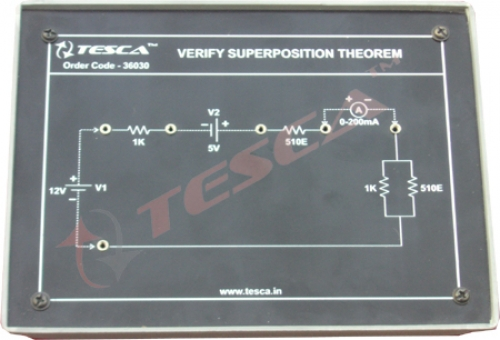 Module - Verify superposition theorem