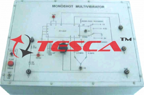 Monoshot Multivibrator using Cmos IC-4047