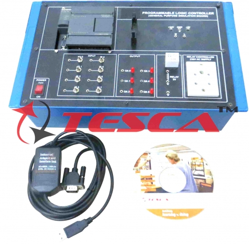 PLC (Siemens) Trainer 8 Input - 6 Output with Different Application Software for Car Parking, Washing Machine, Vending Machine, Tank level Control & Elevator Control