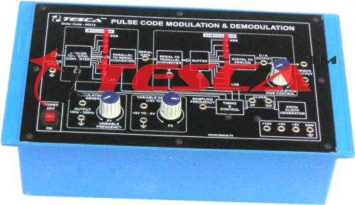 Pulse Code Modulation & Demodulation (PCM) Trainer