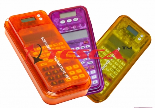 Scientific Mathematical Instruments (Calculator + Geometry Box)
