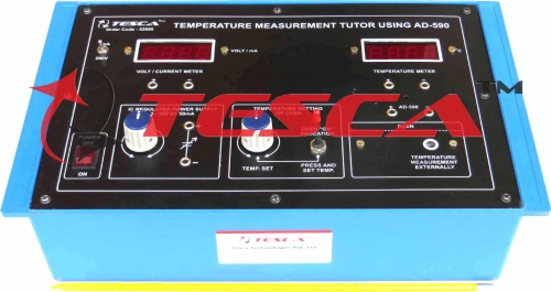 Temperature Measurement Tutor using AD-590