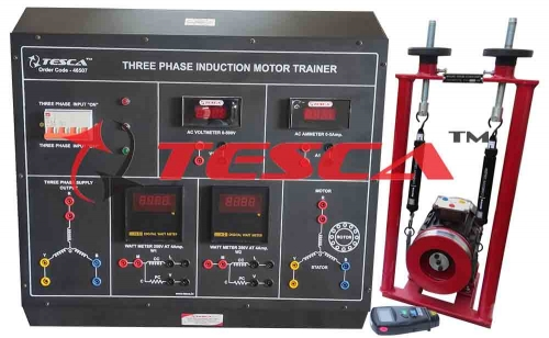 Three Phase Induction Motor Trainer