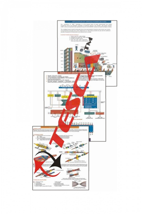 "Wall Charts - Power Electronics Set (10 Charts) (Size 24""x36"")"