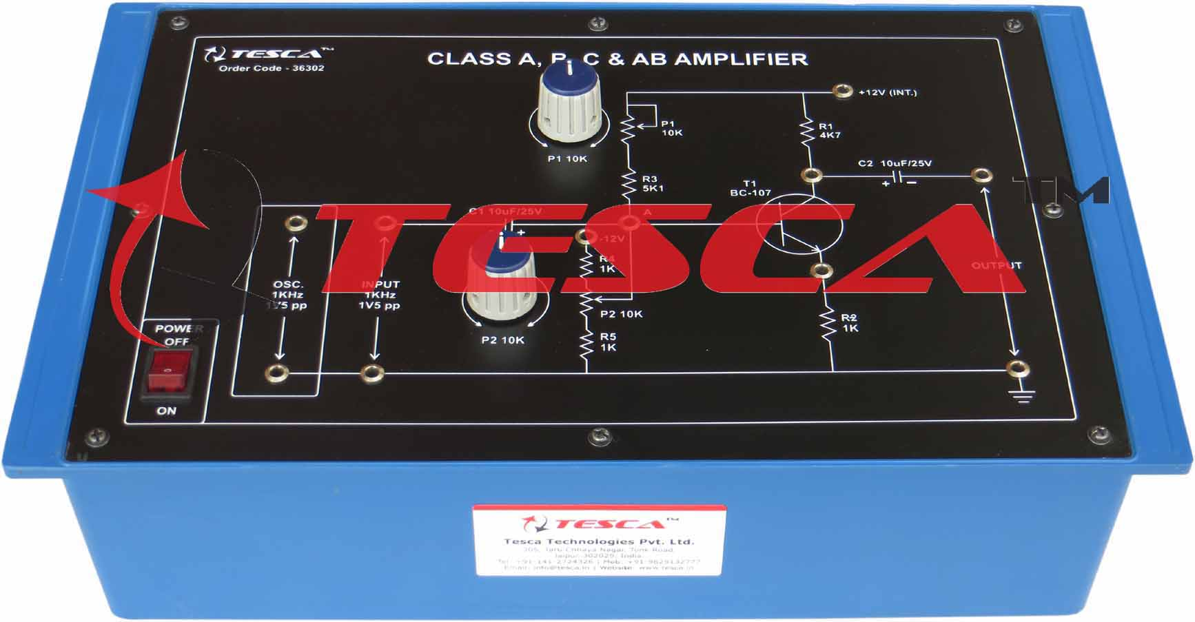 Class A B C Ab Amplifier With Power Supply 12v