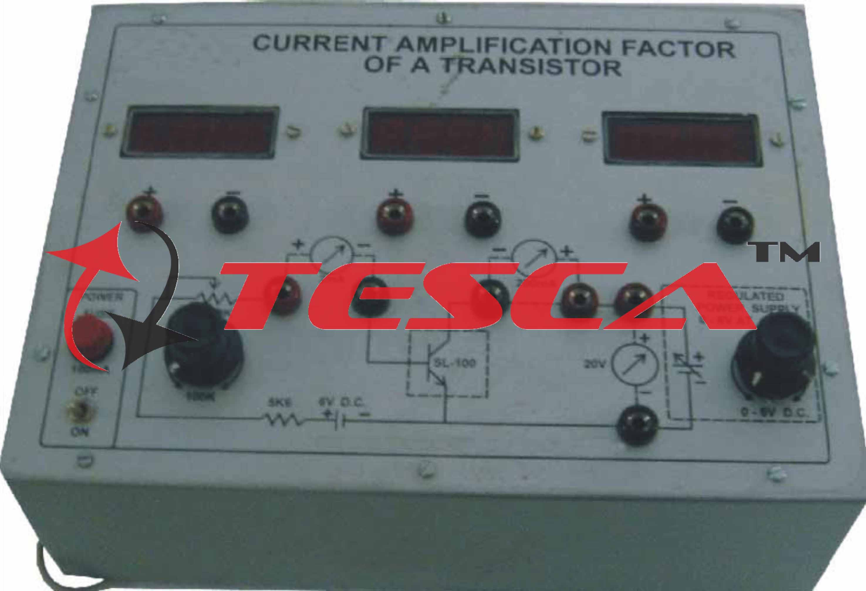 Current Amplification Factor Of A Transistor With Power Supplies And In Electrical Wiring Installation Technology 3 Digital Meters Cr