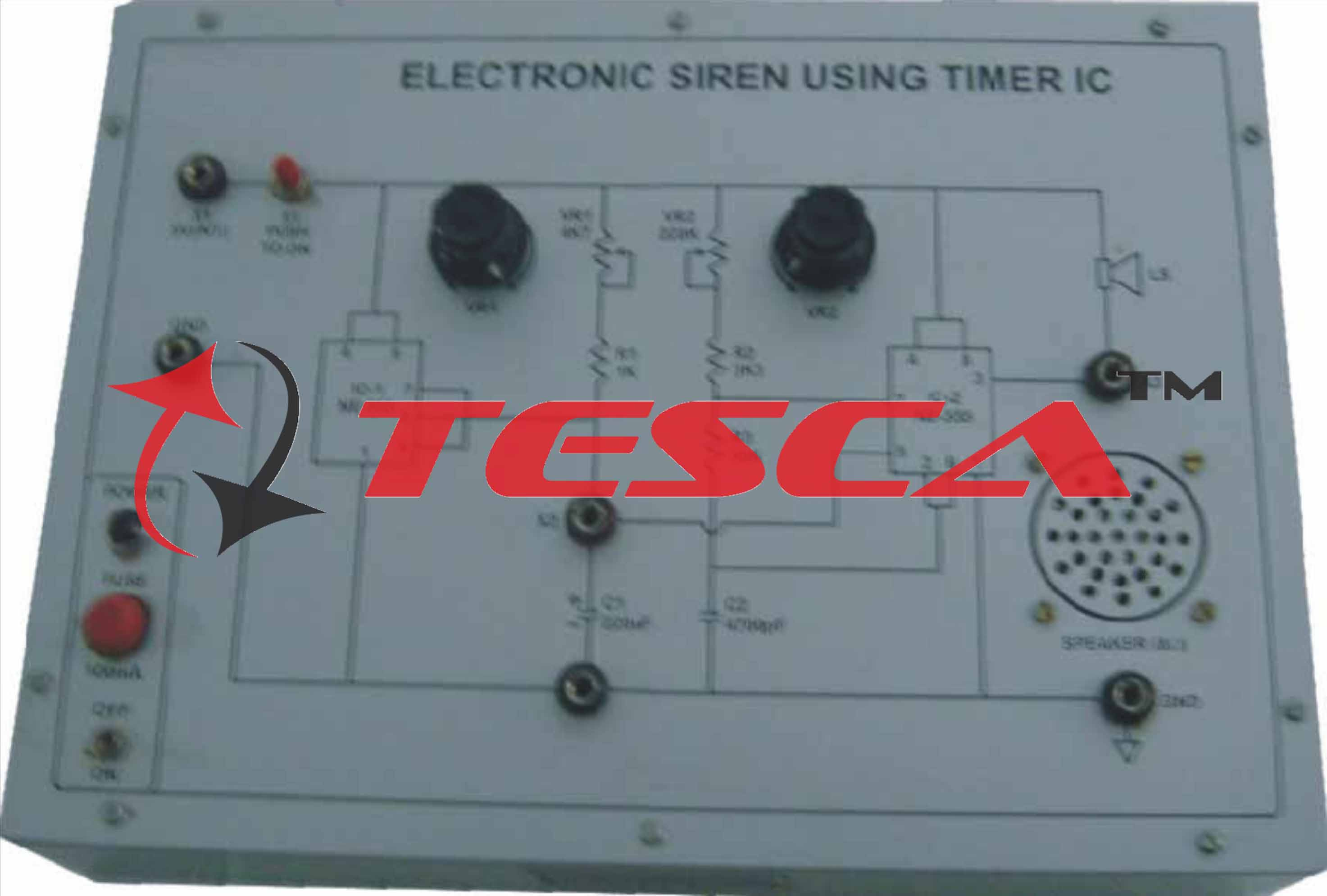 Electronic Siren Using Timer Ics With Power Supply Cr