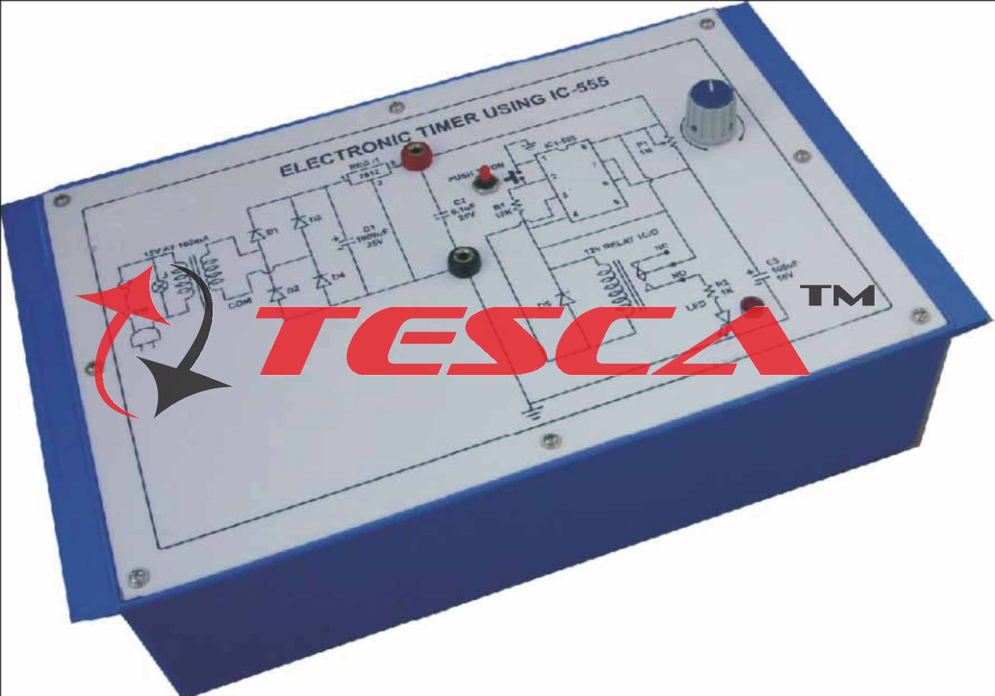 Electronic Timer Using Ic 555 With Power Supply Diagram