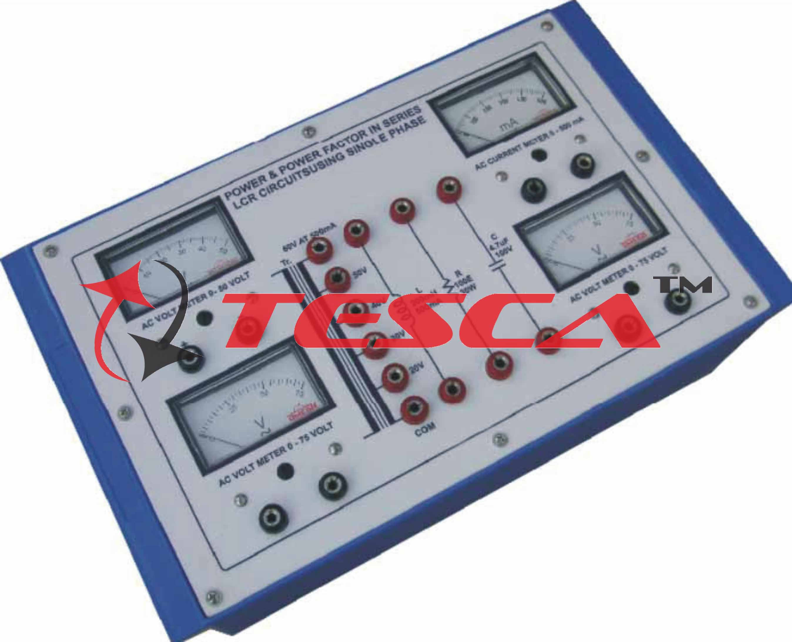 Power Factor In Series Lcr Circuits Using Single Phase With Meter Circuit Diagram Supply And 4 Meters