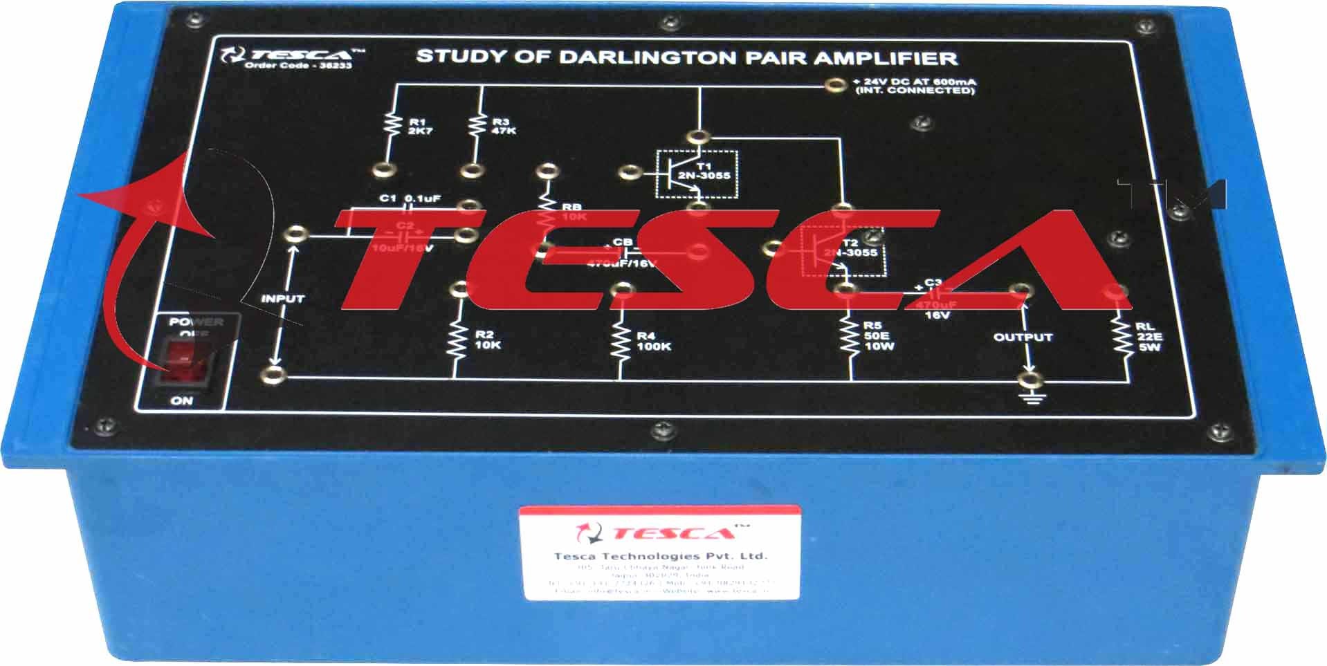 Study Of Darlington Pair Amplifier With Power Supply Basic Electricity And Electronics Transistor Pairs