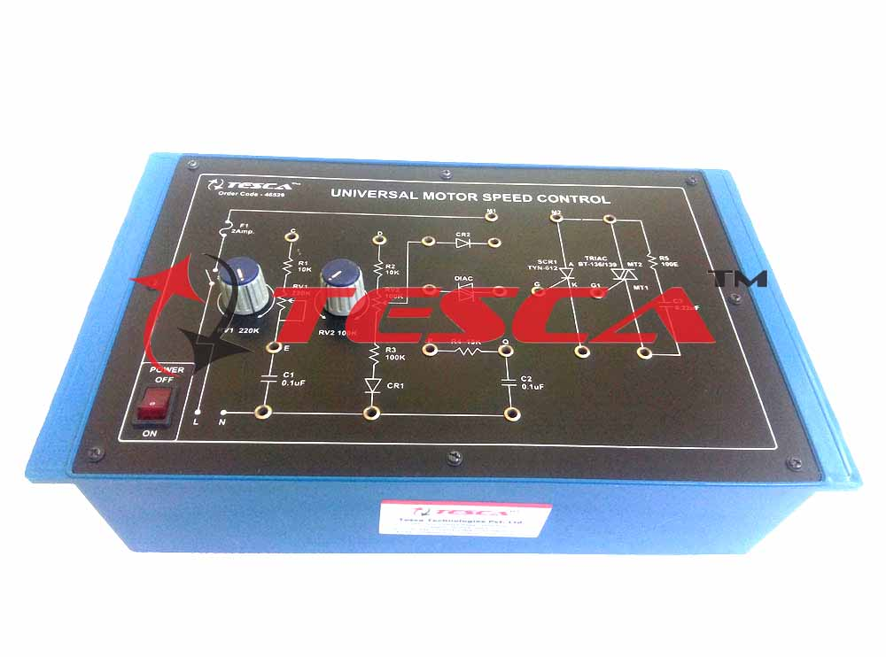 Universal Motor Speed Control with Power Supply & Motor