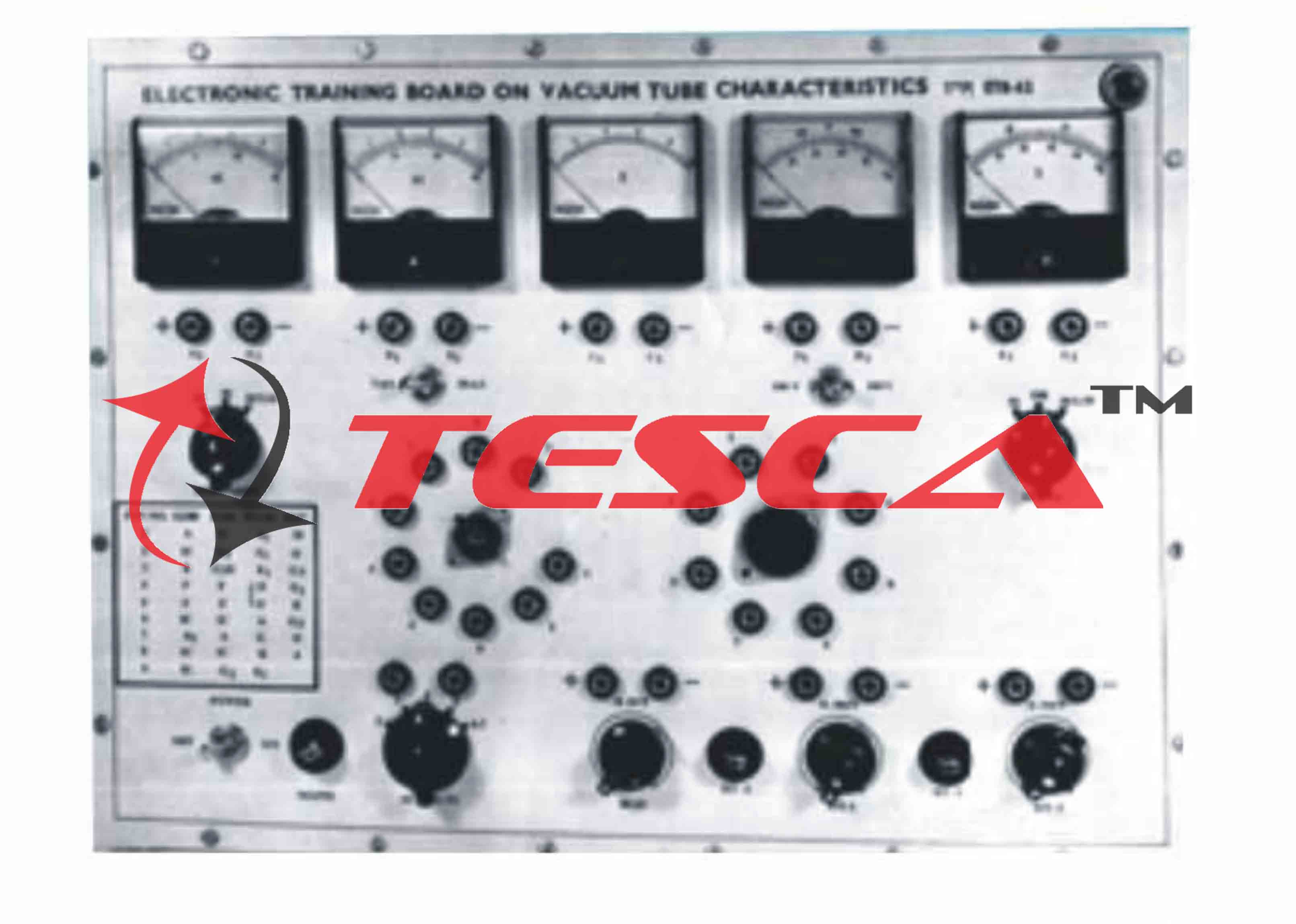 Vacuum Tube Characteristics For Diode Triode Tetrode Pentode Electronics What Is A With Power Supply And 5 Meters Cr Vv